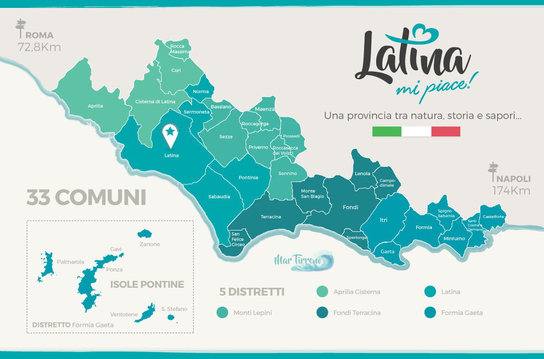 Cartina Regione Lazio Divisa Per Province.Comuni Della Provincia Di Latina Scoprili Tutti Latinamipiace It