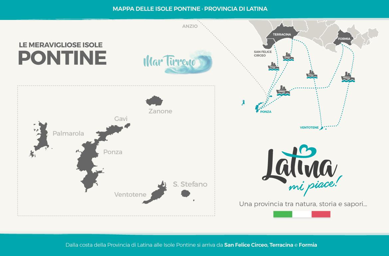 mappa-isole-pontine-latinamipiace