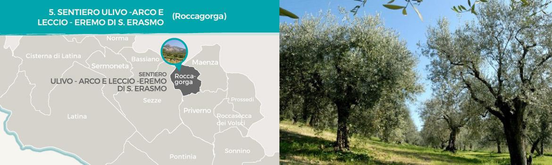 mapa-trekking-sentiero-ulivo-arco-leccio-eremo-di-sant-erasmo-roccagorga-latinamipiace