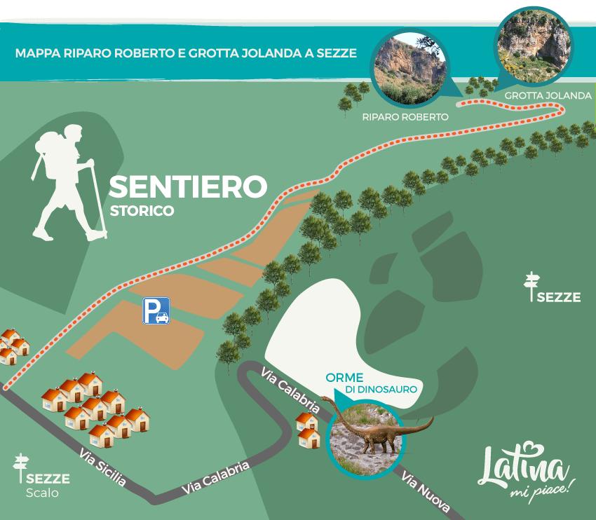 Mappa-sentiero-storico-Riparo-Roberto-e-Grotta-Jolanda-Sezze-latinamipiace