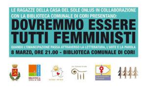 Dovremmo essere tutti femministi a Cori @ Cori | Cori | Lazio | Italia