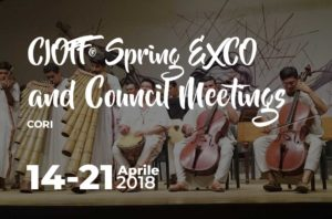CIOFF® Spring EXCO and Council Meetings 2018 a Cori @ Cori | Cori | Lazio | Italia