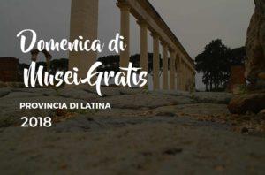 Domenica Musei Gratis @ Provincia di Latina