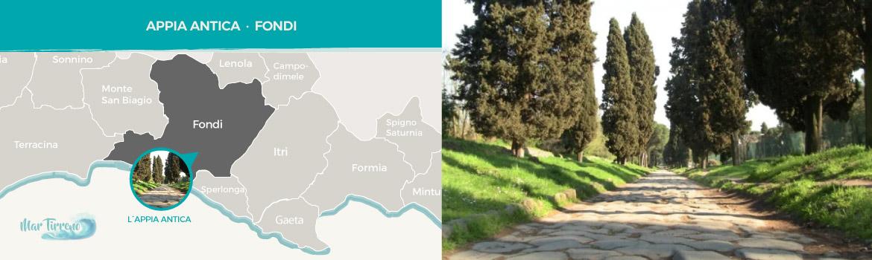 mappa-resti-archeologici-romani-Appia-Antica-a-Fondi-latinamipiace