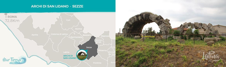 mappa-resti-archeologici-romani-Archi-di-San-Lidano-a-Sezze-latinamipiace