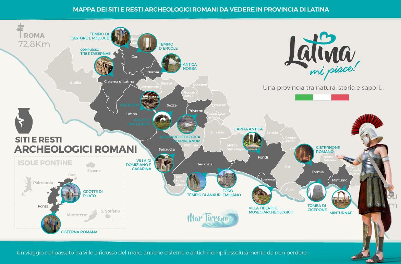mappa-resti-archeologici-romani-Provincia-di-Latina-Italia-latinamipiace