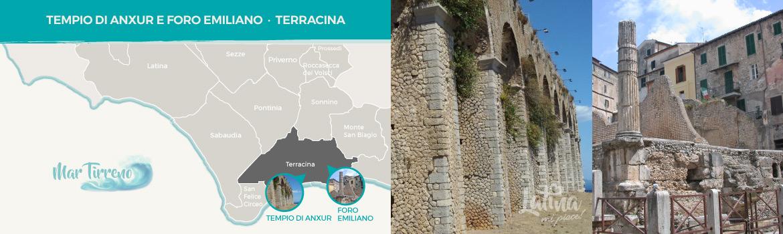 mappa-resti-archeologici-romani-Tempio-di-Anxur-e-il-Foro-Emiliano-a-Terracina-latinamipiace