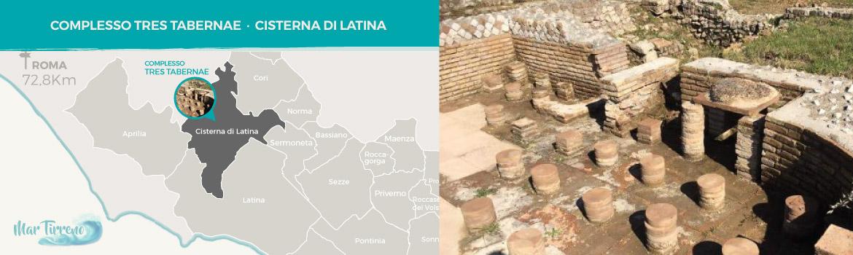 mappa-resti-archeologici-romani-Tres-Tabernae-a-Cisterna-di-Latina-latinamipiace